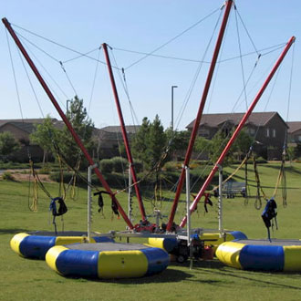Image result for bungee trampoline