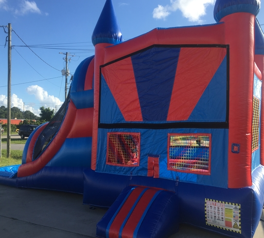 Inflatable Slide Rental Jacksonville Fl: Red Combo Bouncer Rentals In Jacksonville FL & Brunswick GA